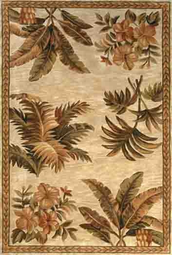Sparta Tropical Oasis 3133 Ivory Rug by Kas