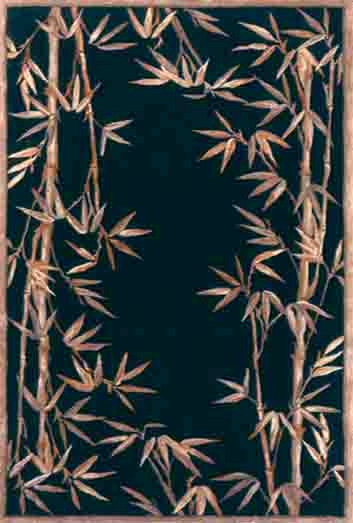 Sparta Bamboo Border 3147 Black Rug by Kas