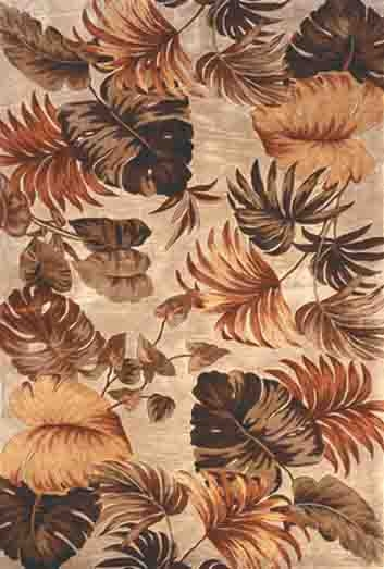 Sparta Palm Leaves 3148 Beige Rug by Kas