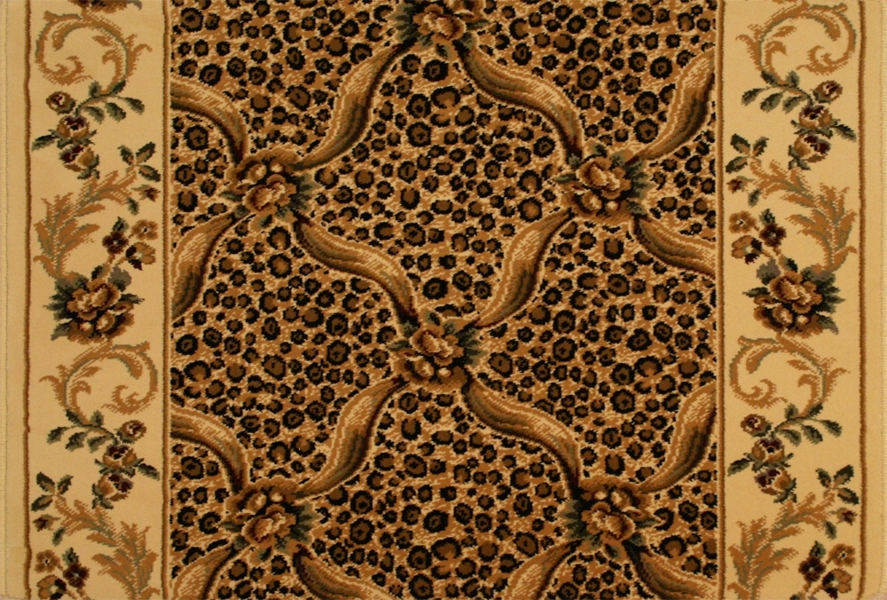 Leopard Trellis 6391/0001a Ivory Carpet Stair Runner