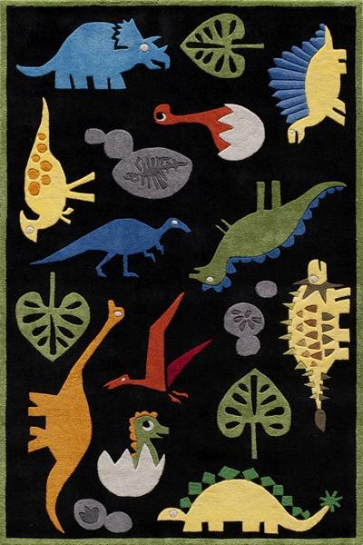 Lil Mo Whimsy Lmj 18 Dinosaur Black Rug By Momeni