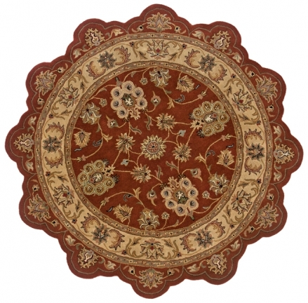 Lr Resources Shapes 50921 Rust Rug