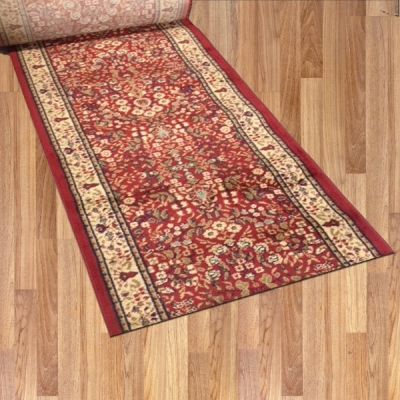 Macon Wine Red - 26 Inch Wide Finished Runner - Price is Per Foot