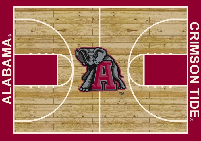 College Basketball Court Alabama 100 Stainmaster Stain Protection Nylon Machine Made Milliken Rugs