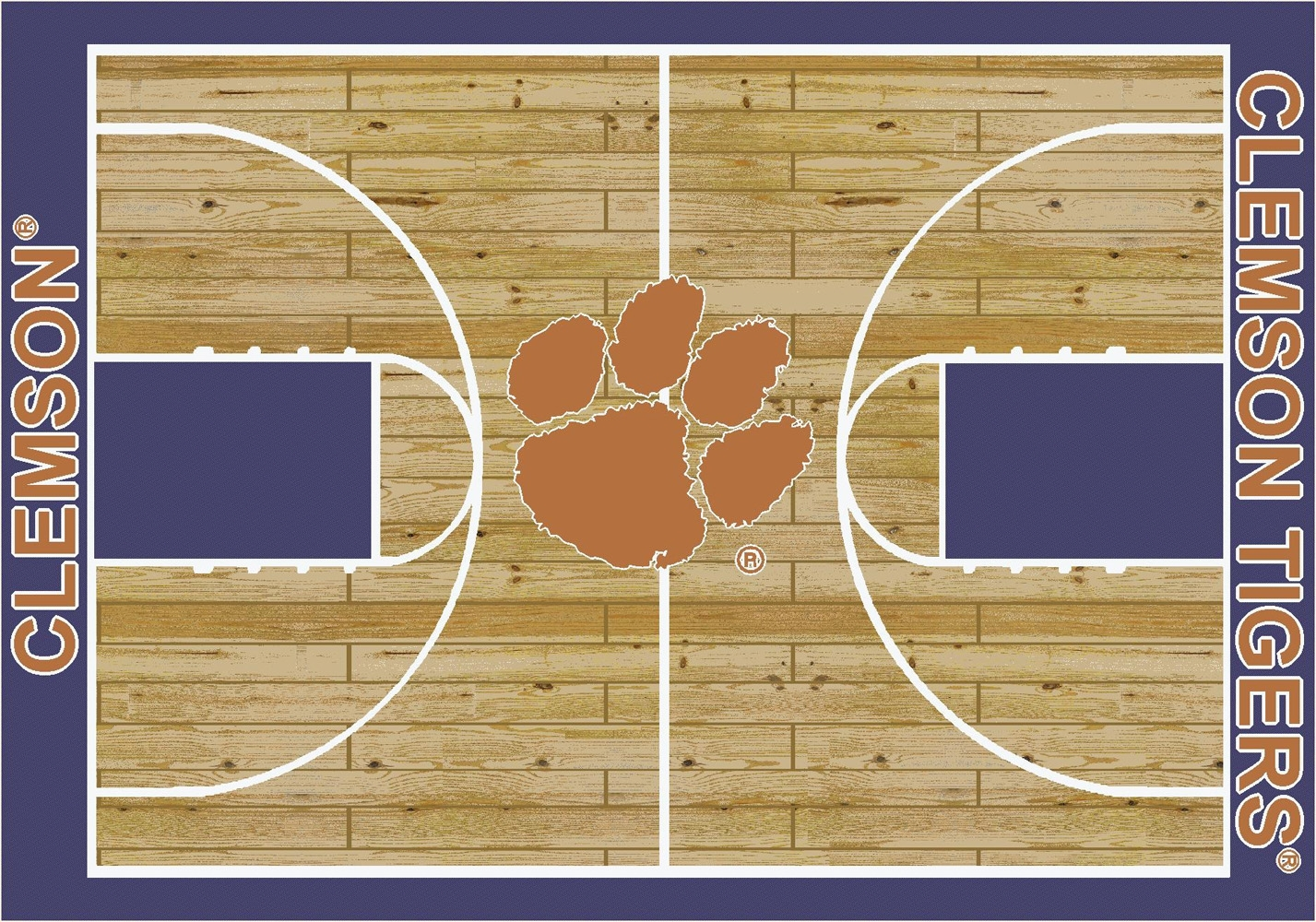College Basketball Court Clemson 100 Stainmaster Stain