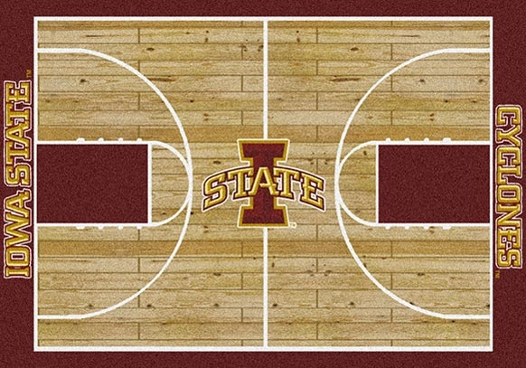 College Basketball Court Iowa State100 Stainmaster