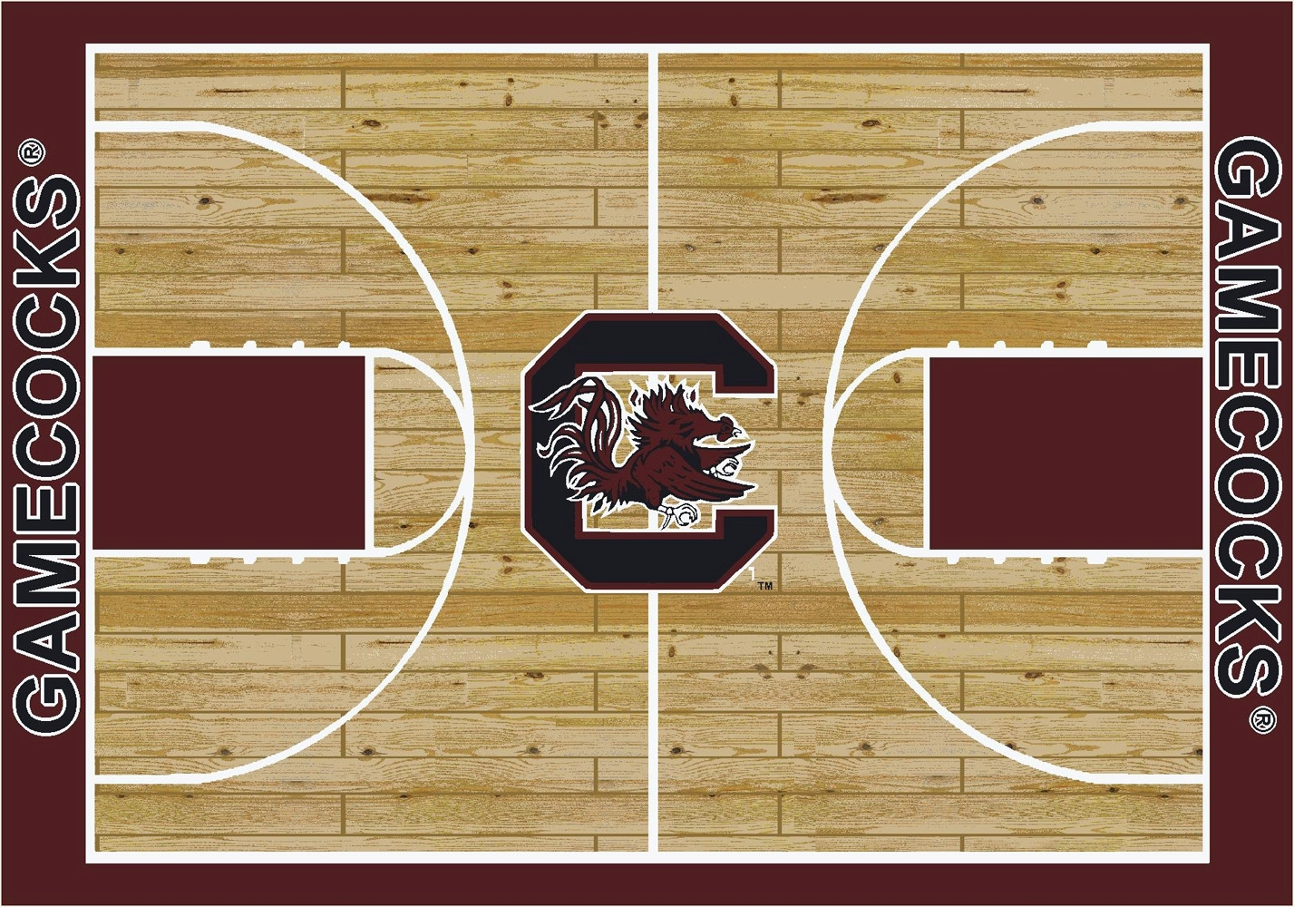 College Basketball Court University Of South Carolina 100