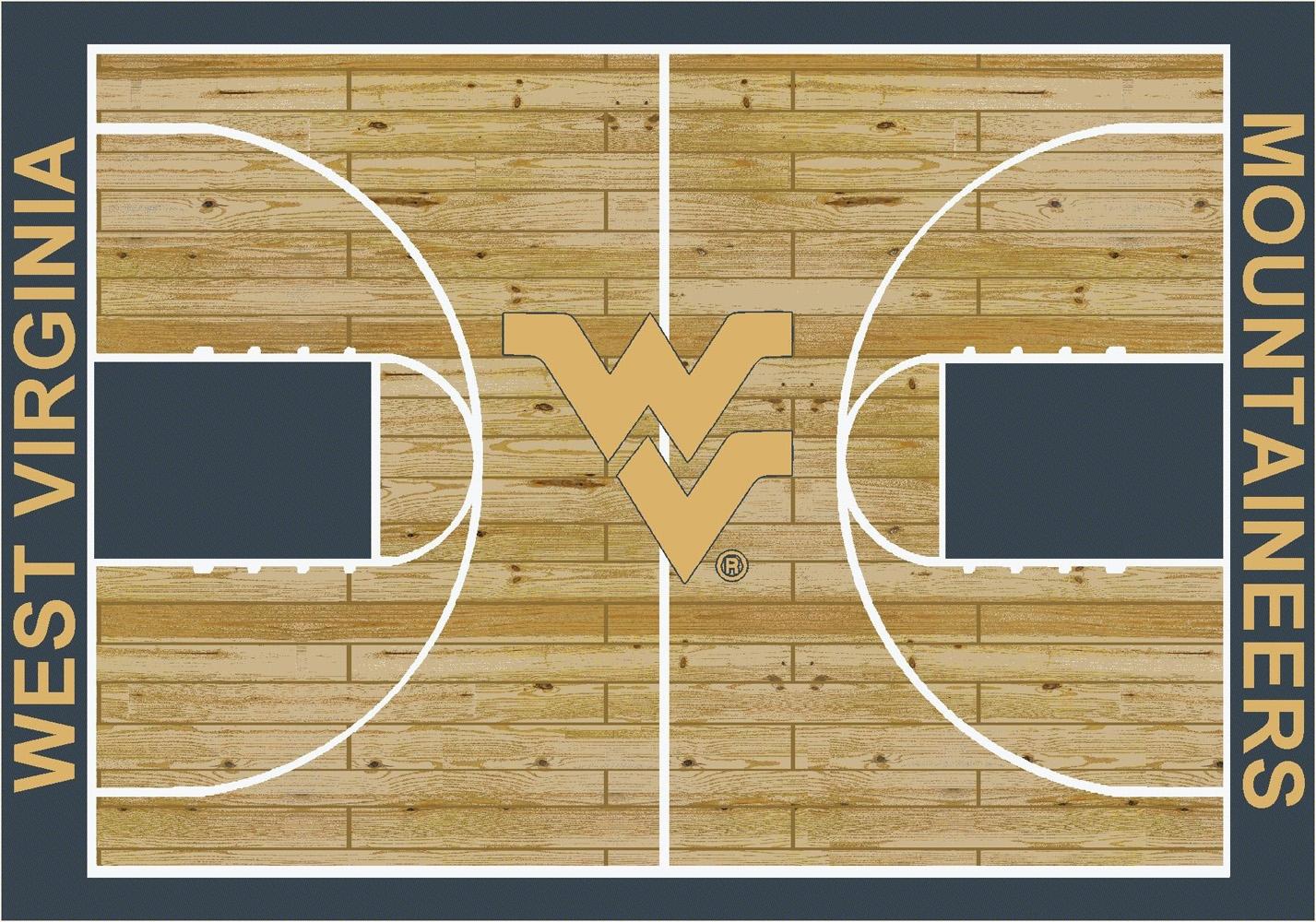 College Basketball Court University Of West Virginia 100