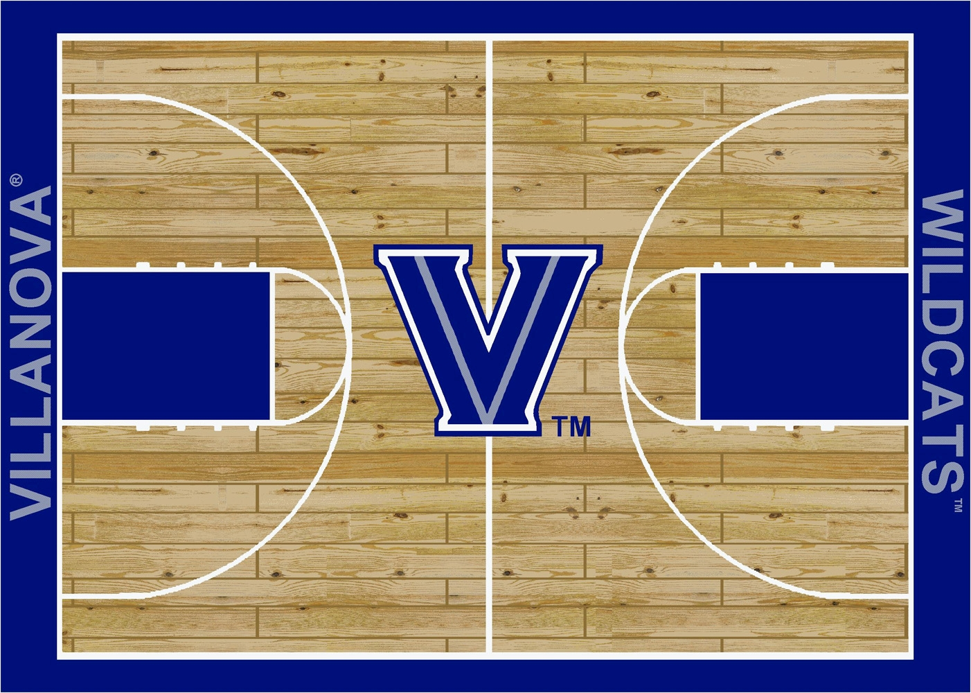 College Basketball Court Villanova 100 Stainmaster