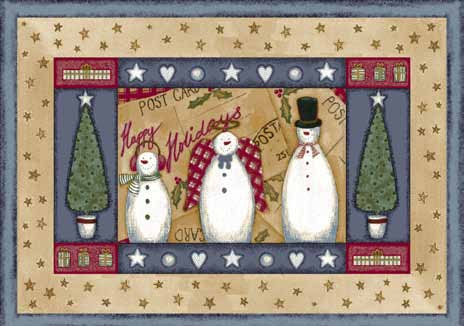Seasonal Inspirations 534533-0012 Frosty And FamilyŸ?? 100% Nylon Fiber Machine Made Milliken Rugs On Sale