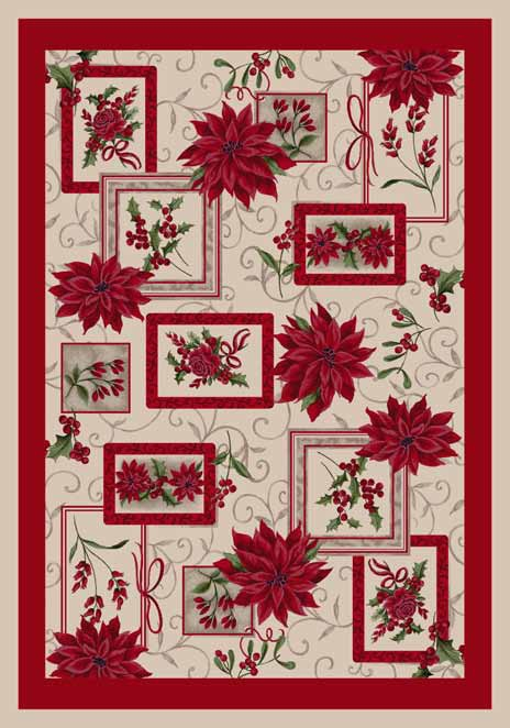 Seasonal Inspirations 534533-0016 Winter BouquetŸ?? 100% Nylon Fiber Machine Made Milliken Rugs On Sale