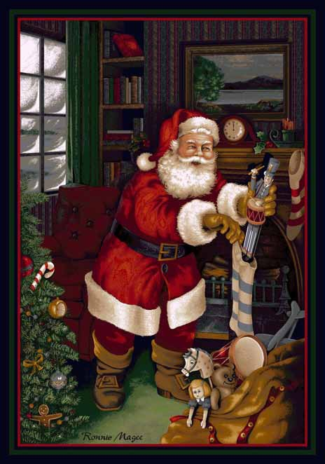 Seasonal Inspirations 534533-01800  Santa??s VisitŸ?? 100% Nylon Fiber Machine Made Milliken Rugs On Sale