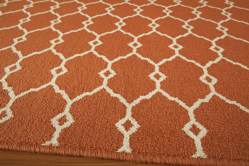 Baja BAJ-02 Orange Rug by Momeni
