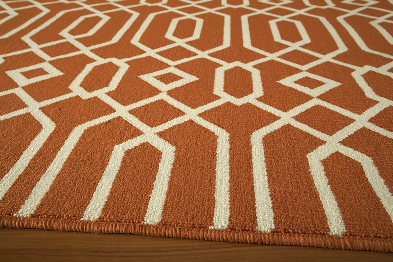 Baja BAJ-03 Orange Rug by Momeni