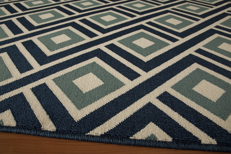 Baja BAJ-07 Blue Rug by Momeni
