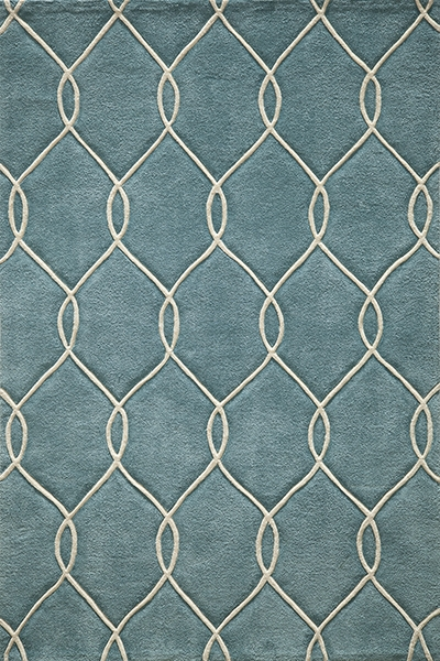 Bliss BS-12 Teal Rug by Momeni