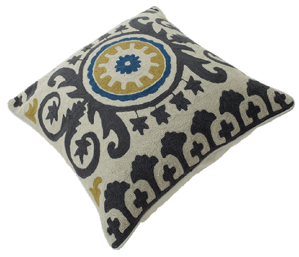 Momeni Chainstitch CSP-9 Blue Pillow