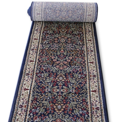 Navy Market Place - 26 Inch Wide Finished Runner - Price is Per Foot