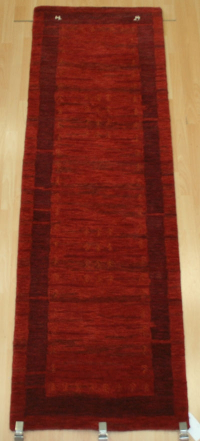 NomadNO07 Red2 ft 6 in x 8 ft100% WoolHand Tufted