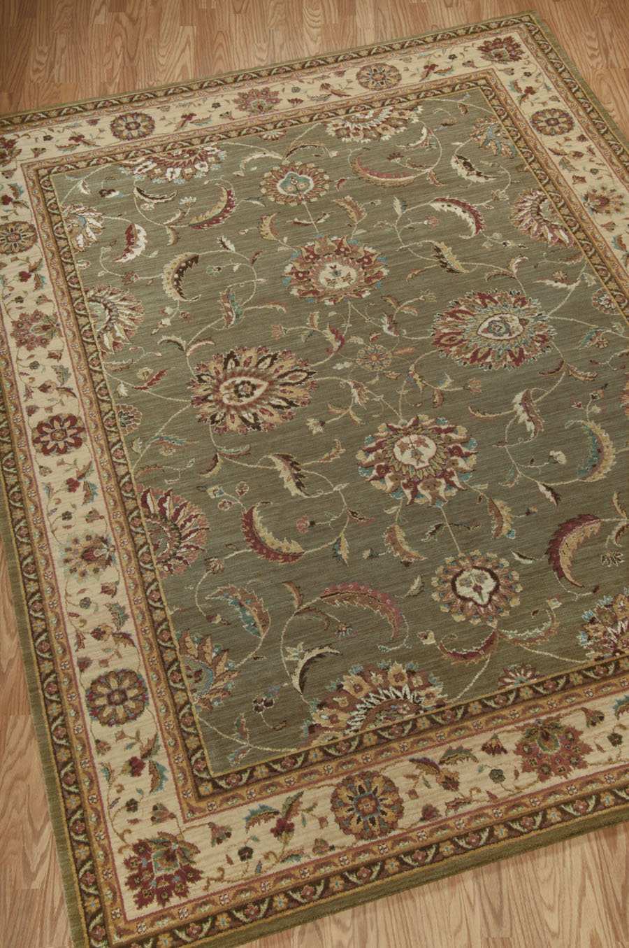 Living Treasures LI04 Green Rug by Nourison