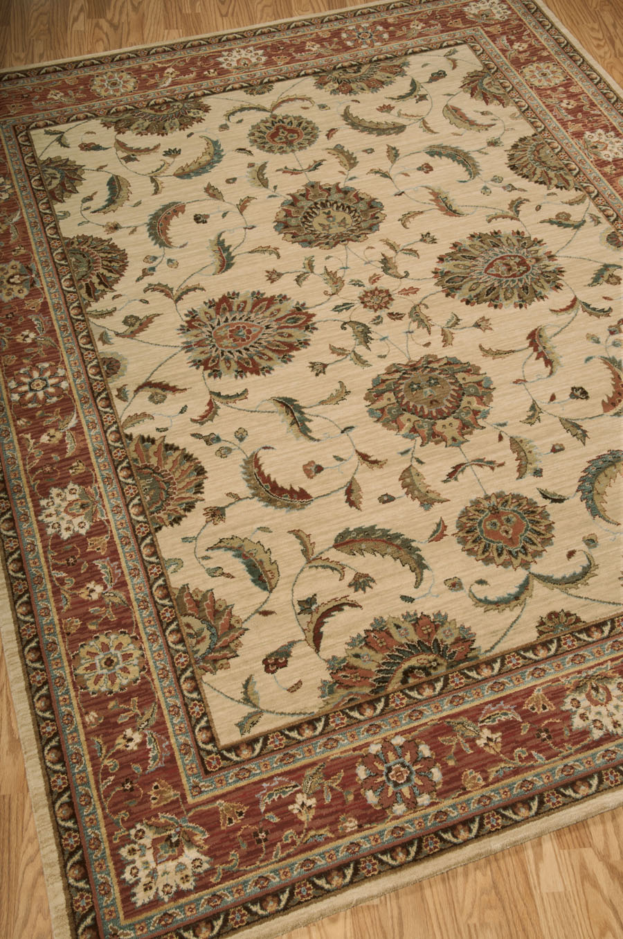 Living Treasures LI04 Ivory Red Rug by Nourison