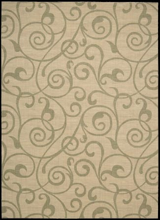 Riviera RI03 Light Gold Rug by Nourison