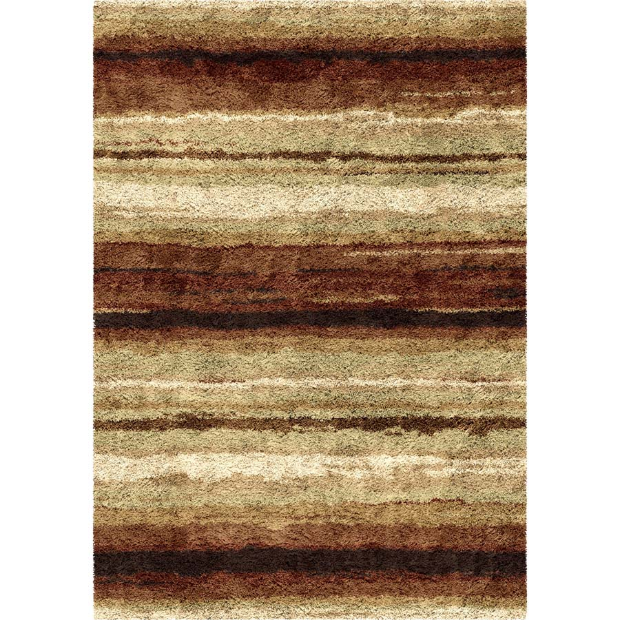 Orian Impressions Shag 3709 Sundown Red Area Rug