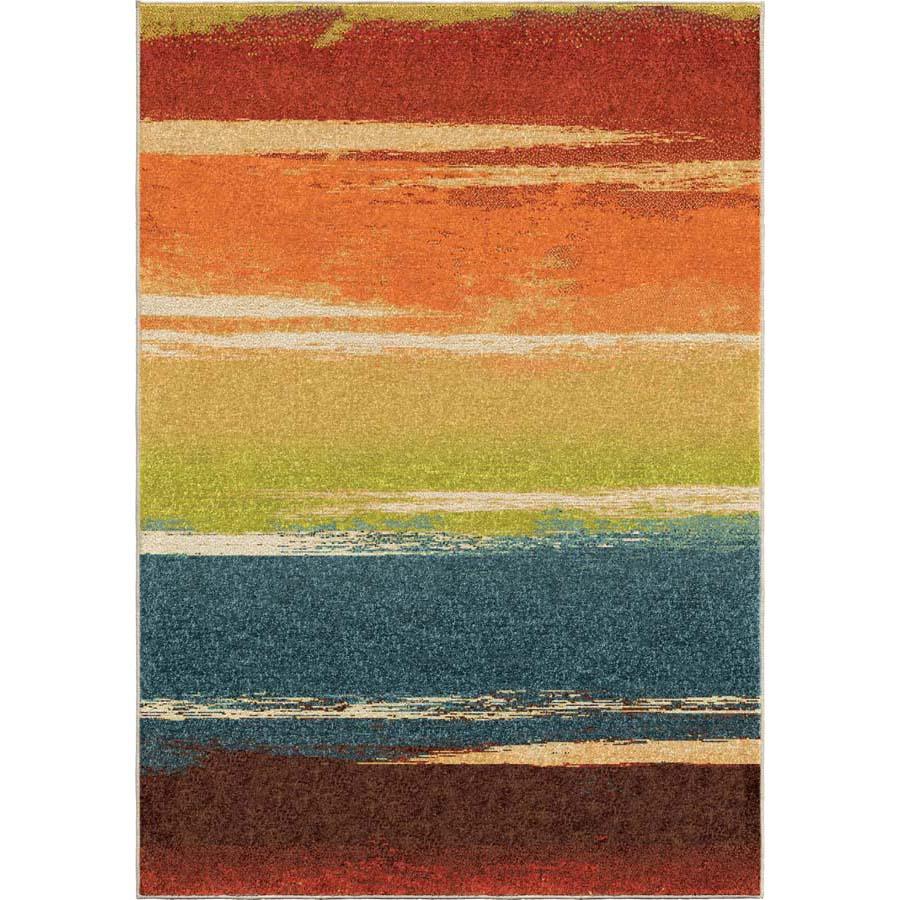 Orian Rugs Human Resources: Orian Spoleto 2808 Brushed Stripe Multi Area Rug
