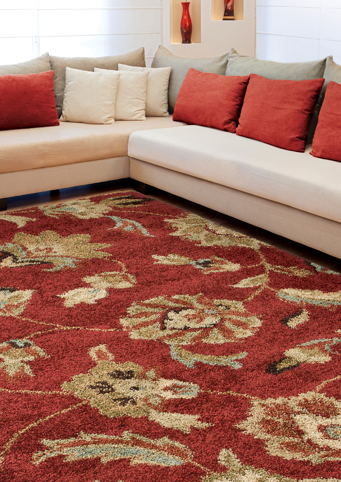 Orian Wild Weave London Rouge Rug