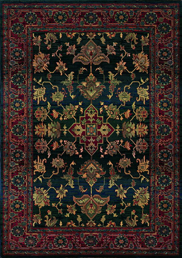 Oriental Weavers Sphinx Kharma Enchantment 836F Dark Blue Rug