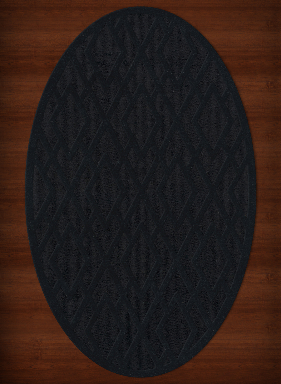 Payless Troy Tr1 111 Black Oval Rug
