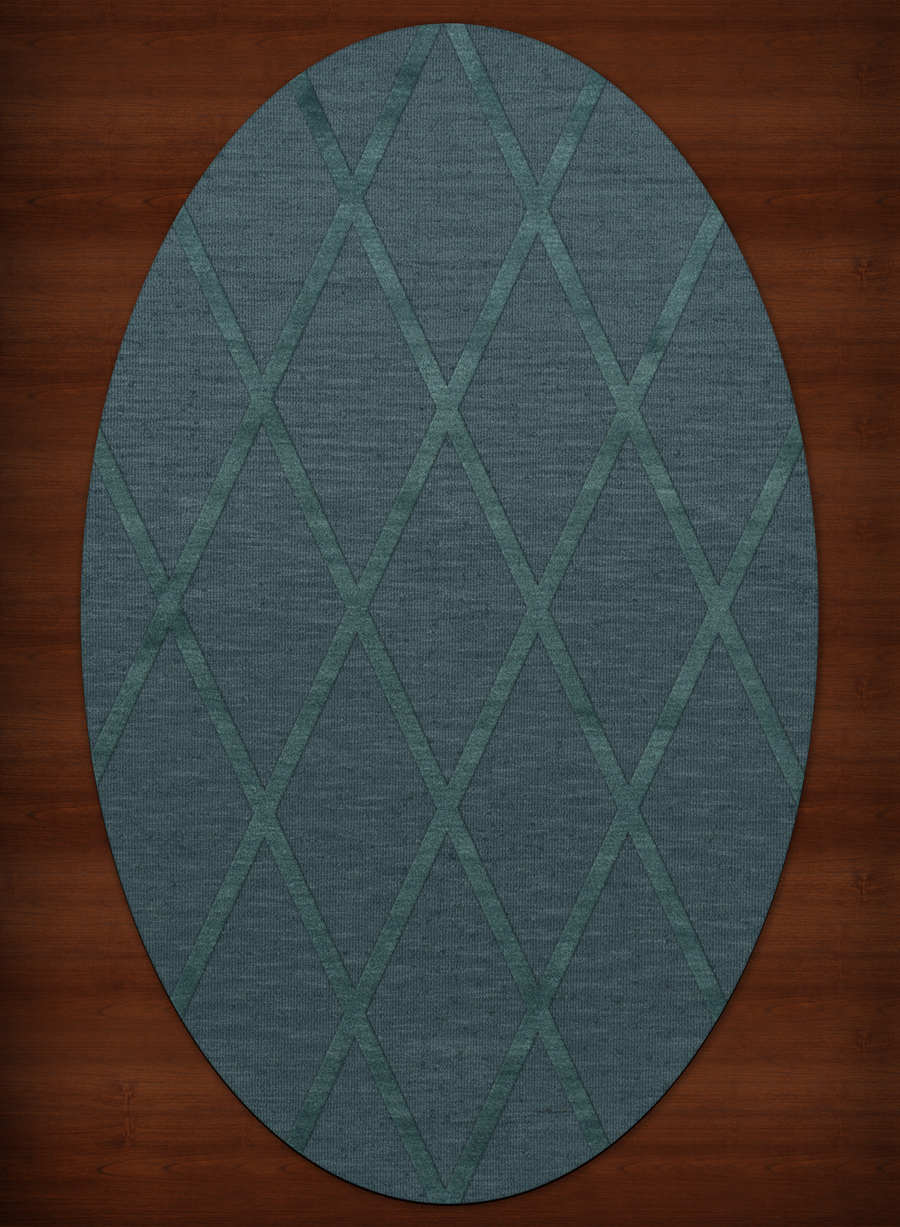 Payless Troy TR11 144 Teal Oval Rug