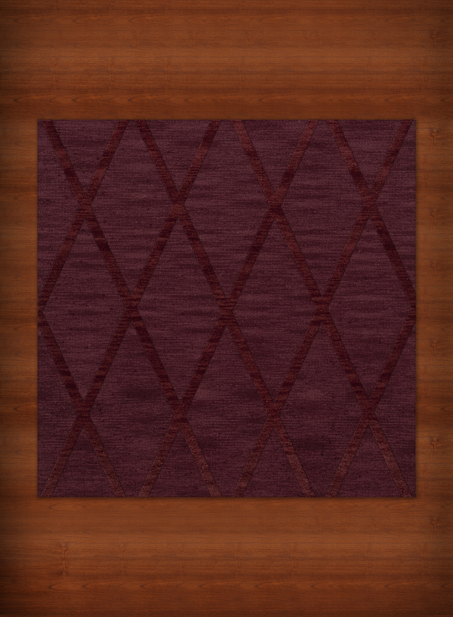 Payless Troy TR11 150 Burgundy Square Rug