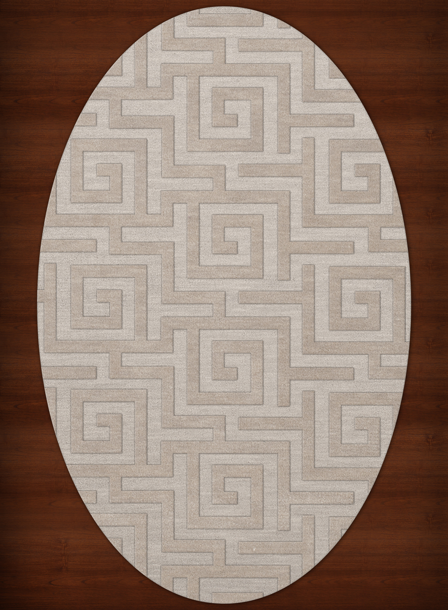 Payless Troy TR13 101 Putty Oval Rug