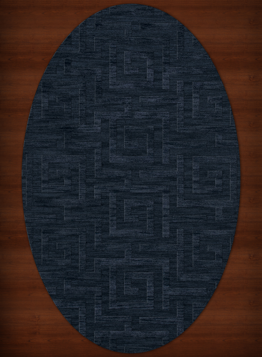 Payless Troy TR13 116 Navy Oval Rug