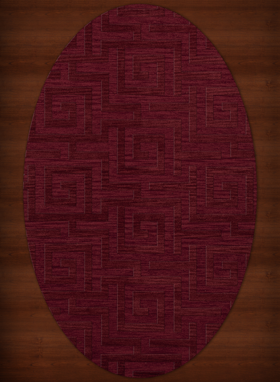 Payless Troy TR13 141 Rich Red Oval Rug