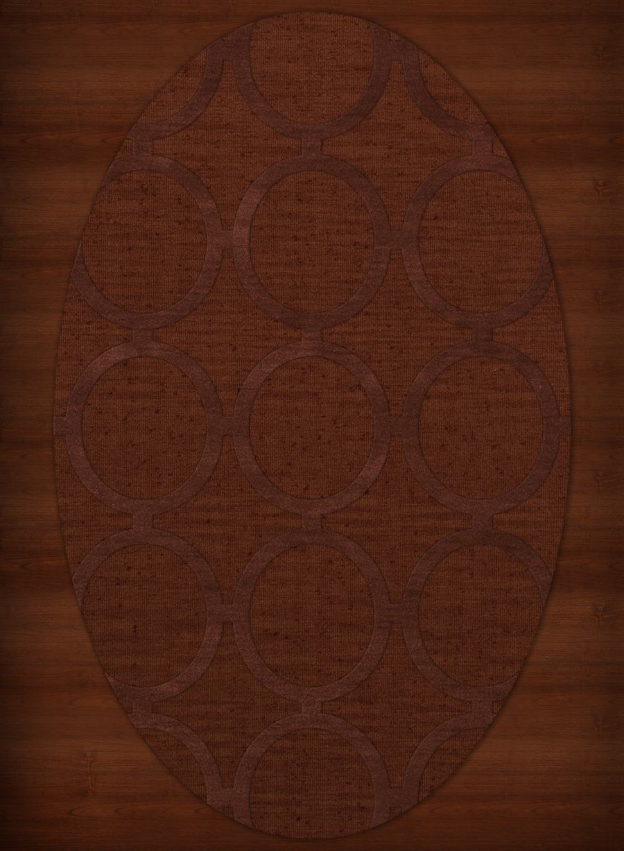 Payless Troy TR14 137 Paprika Oval Rug