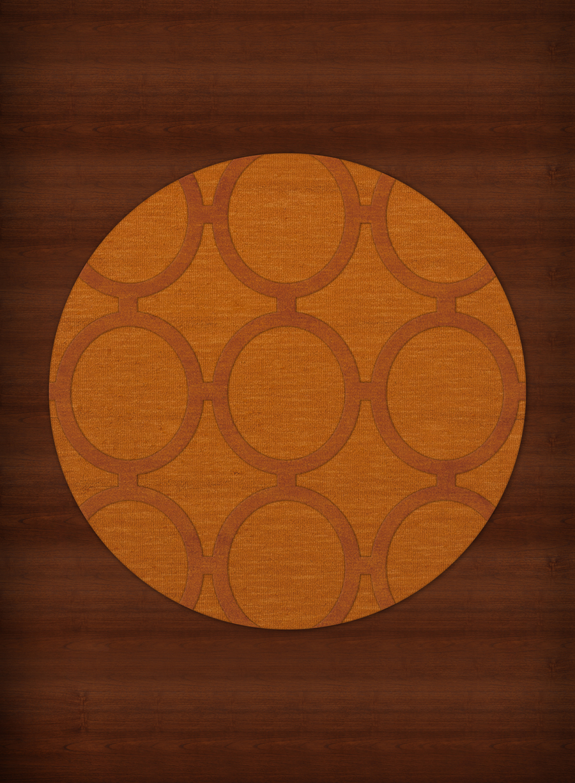 Payless Troy Tr14 156 Orange Round Rug