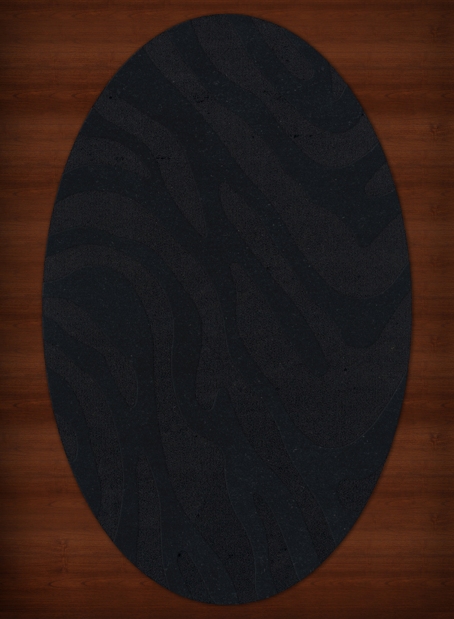 Payless Troy Tr2 111 Black Oval Rug
