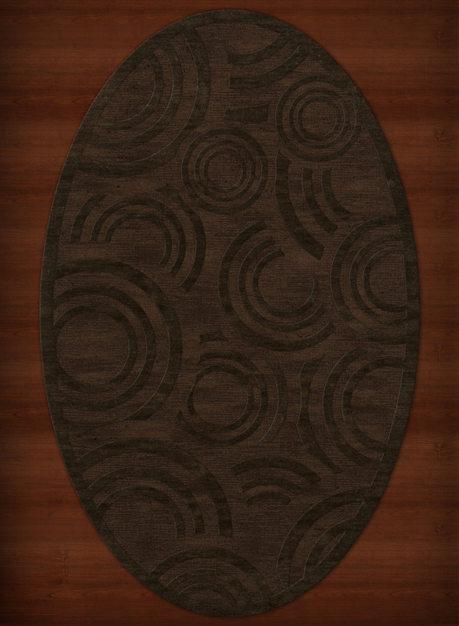 Payless Troy Tr3 106 Fudge Oval Rug