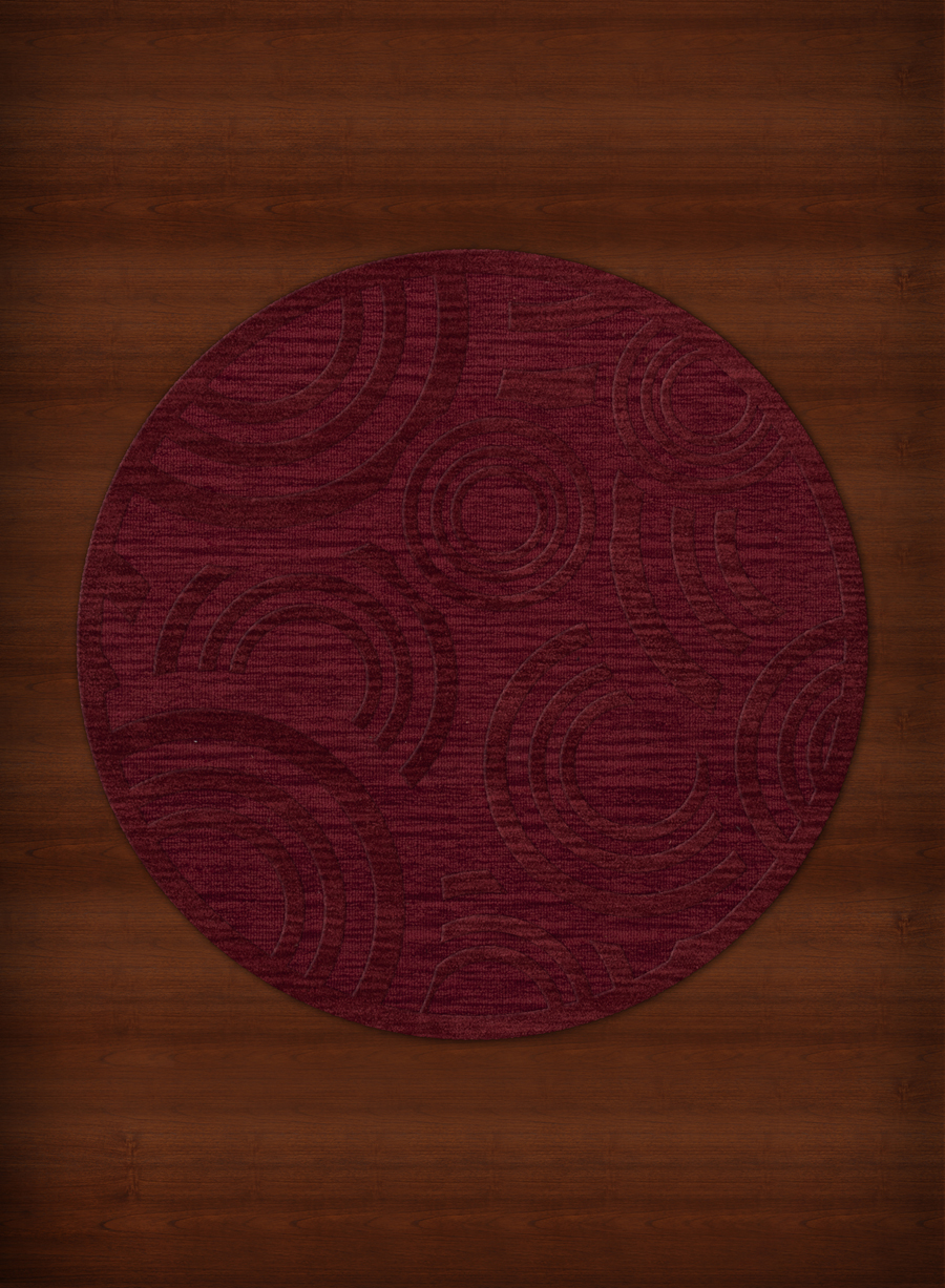 Payless Troy TR3 141 Rich Red Round Rug