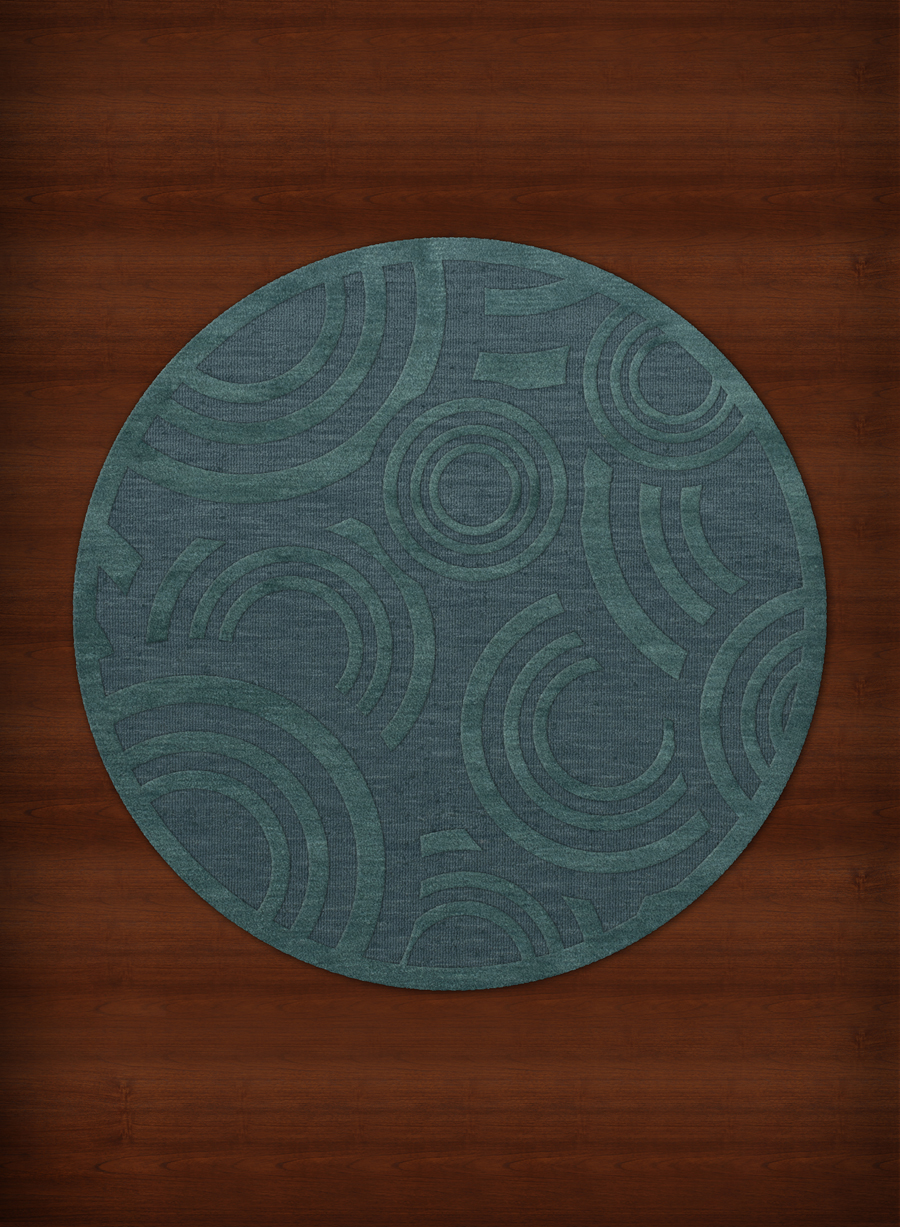 Payless Troy TR3 144 Teal Round Rug
