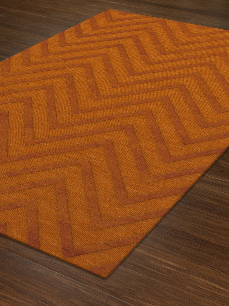 Payless Troy TR4 156 Orange Rectangle Rug