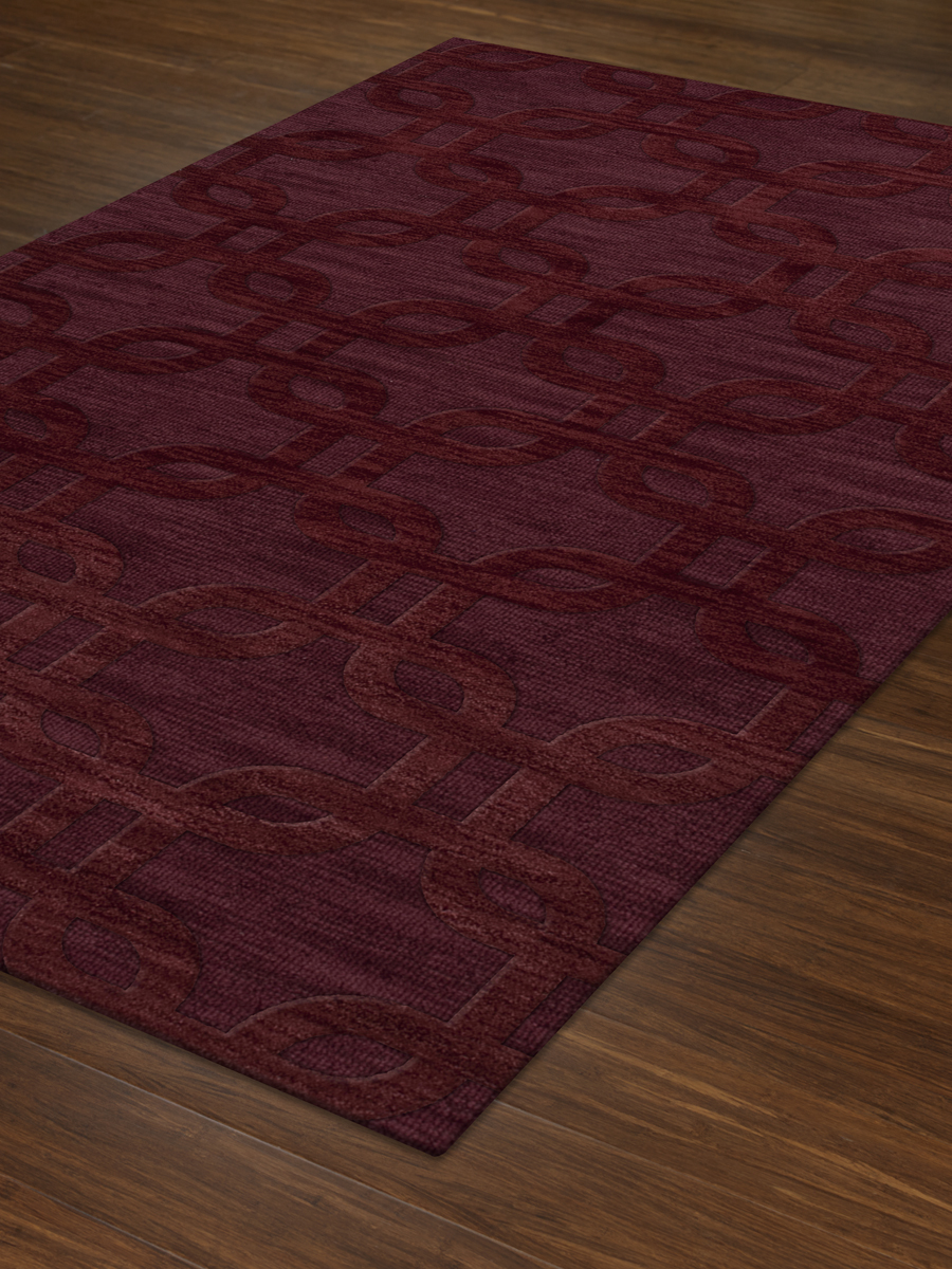 Payless Troy Tr7 150 Burgundy Rectangle Rug