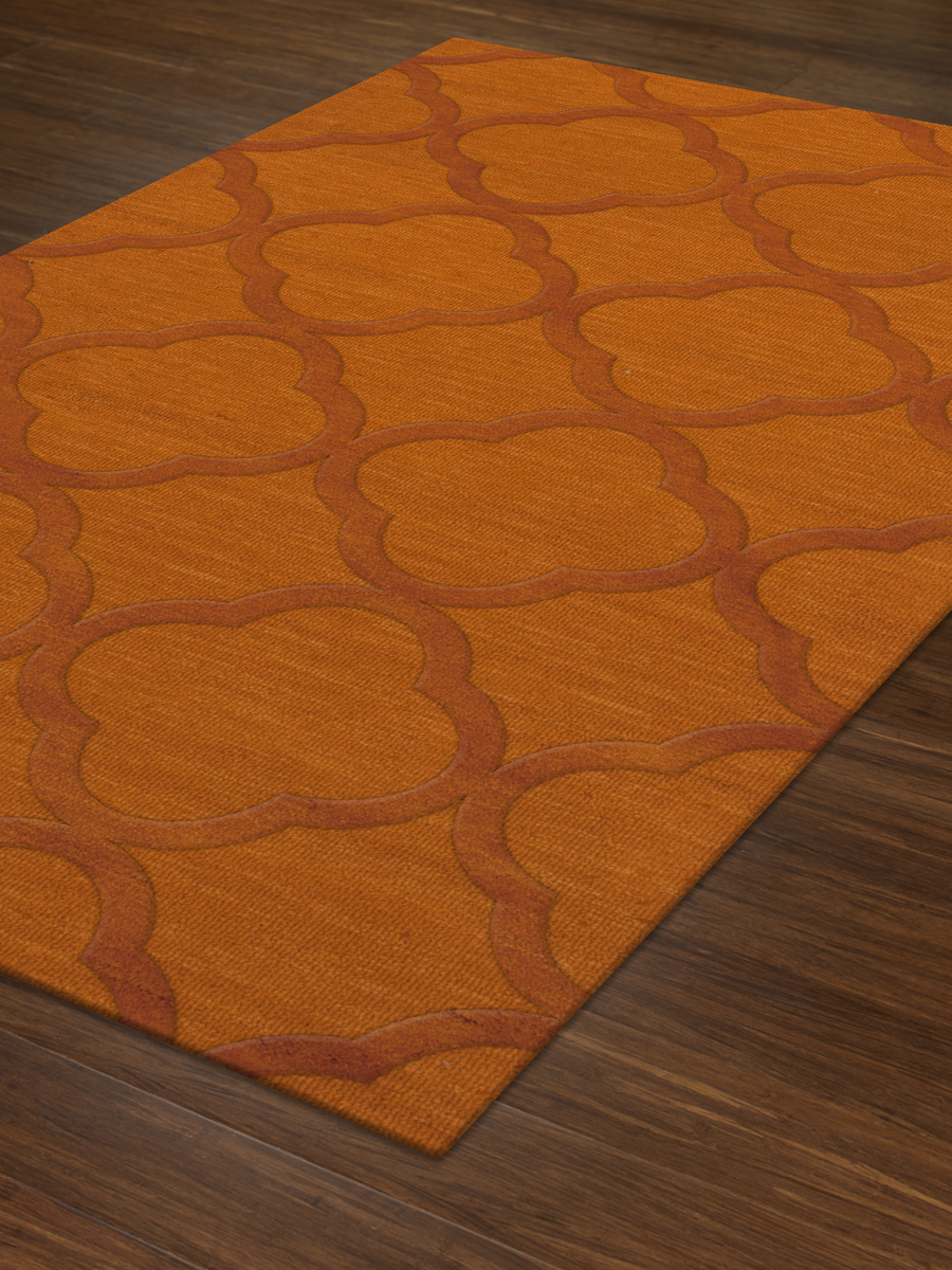 Payless Troy TR8 156 Orange Rectangle Rug