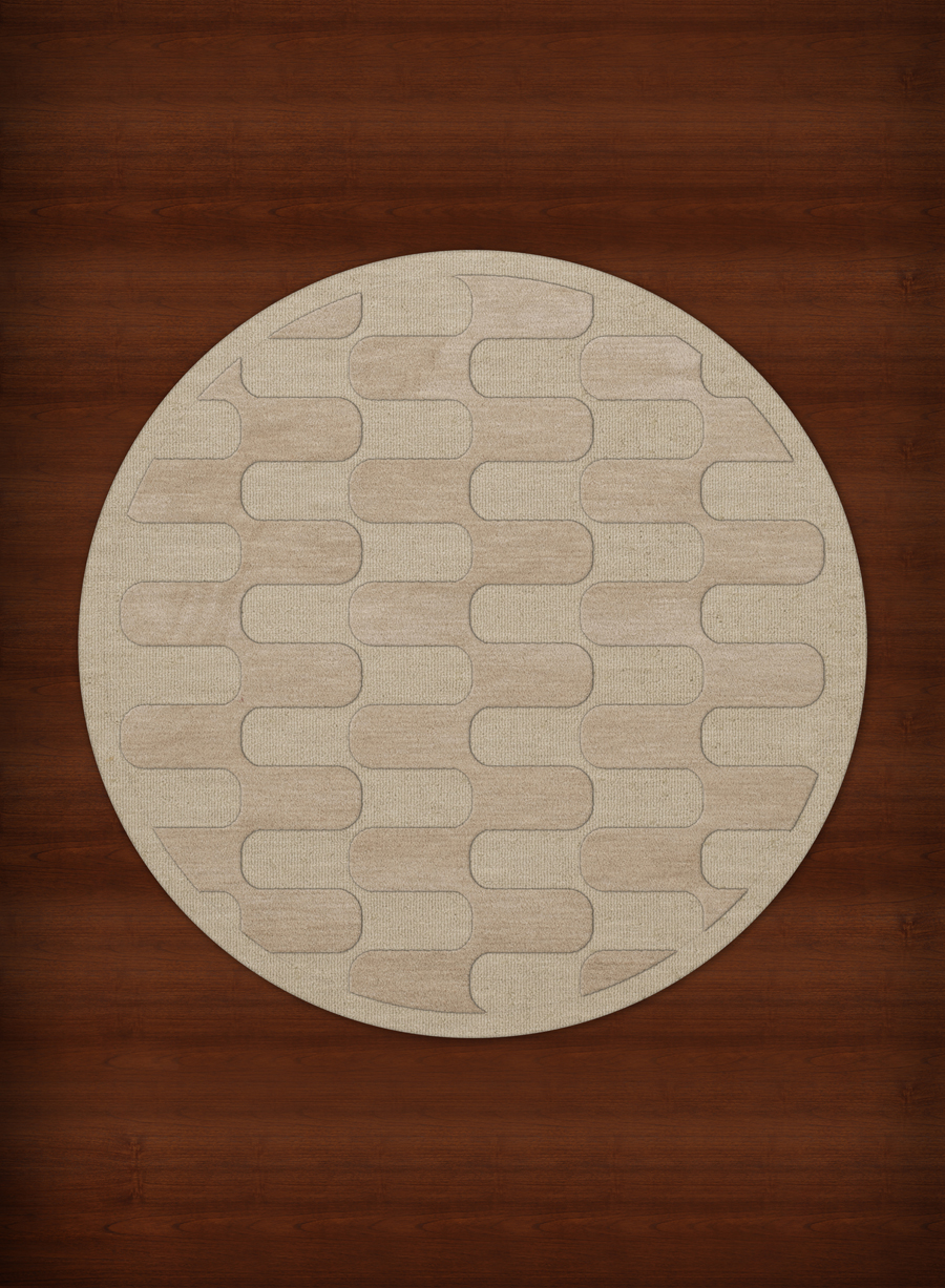 Payless Troy TR9 148 Linen Round Rug