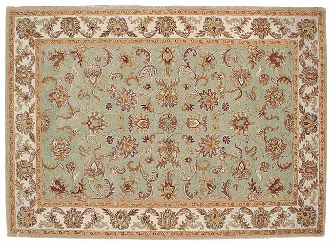 Heritage 52201B Light Blue 100% Wool Hand Tufted Fine twisted Luster Wash Payless Rugs