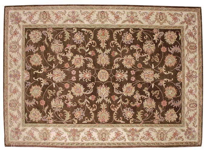 Heritage 52201C Brown 100% Wool Hand Tufted Fine twisted Luster Wash Payless Rugs