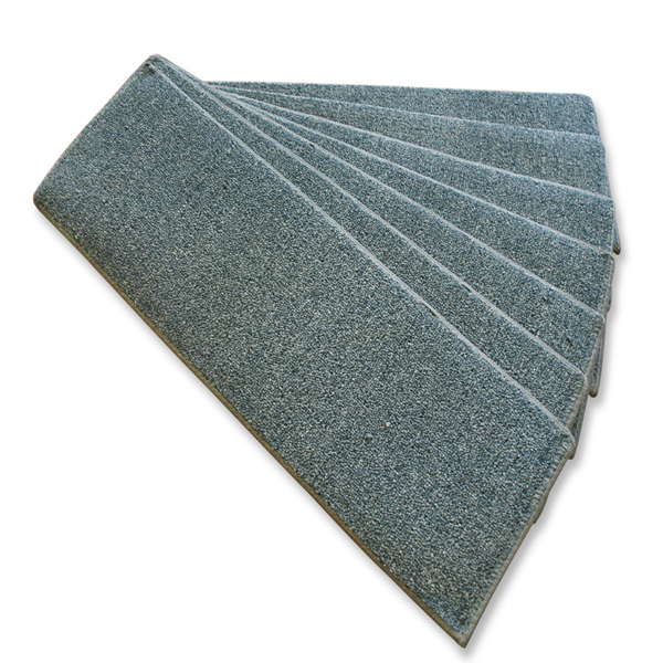 Denim Stair Treads With  Rubber Backing