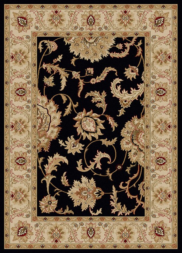 Como 1621 Black Rug by Radici